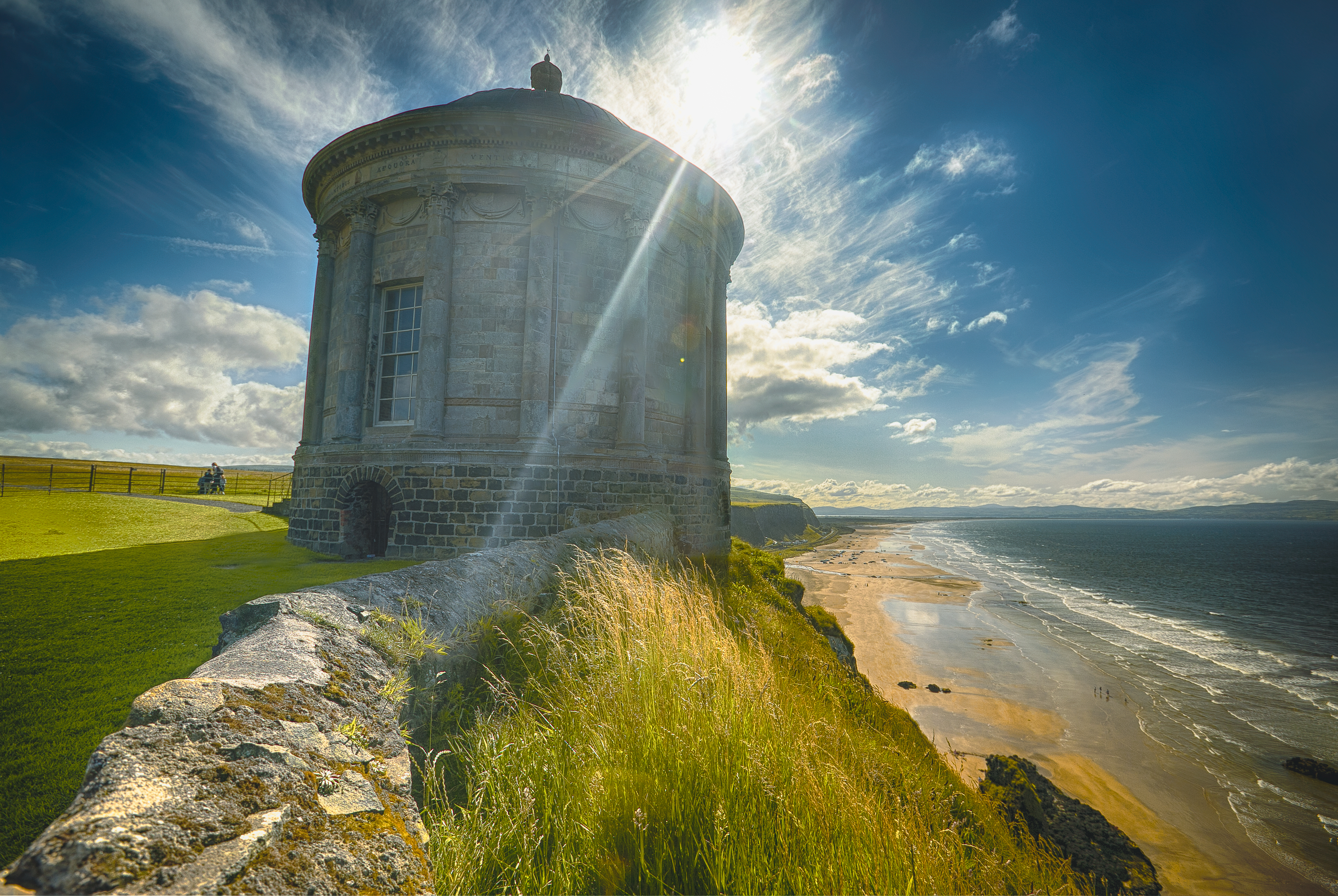 Noord-Ierland, Mussenden Temple, Vakantie ierland