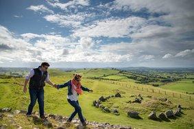 Echt Ierland, Loughcrew Cairns, Vakantie ierland
