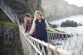 Echt Ierland, County Antrim, Carrick-a-rede-ropebridge, Rondreis ierland