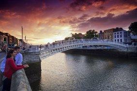 Echt Ierland, Dublin, Ha'penny Bridge, Rondreis ierland